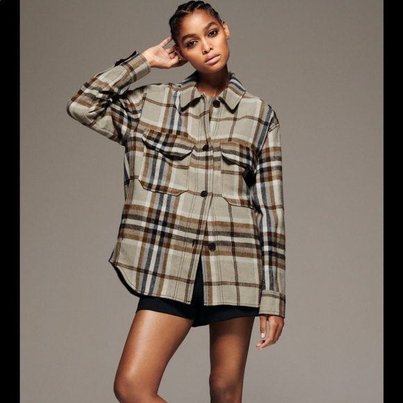 SOLD-Discounted shipping NWT Plaid overshirt